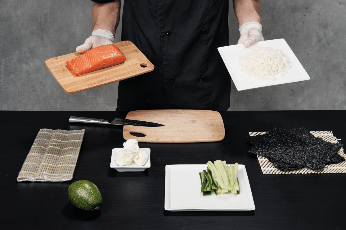 how long does it take to cook sushi rice