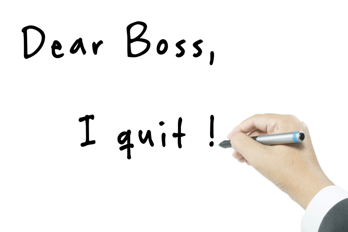how to quit your job properly