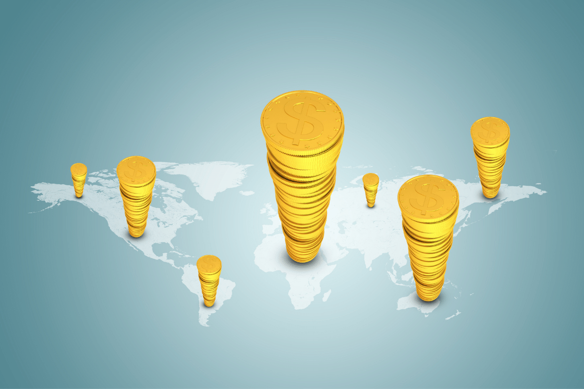 how much gold per person in the world